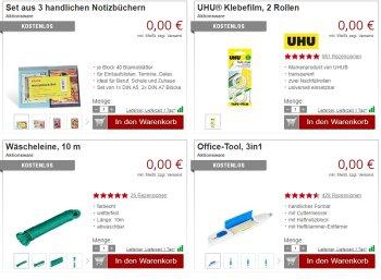 Druckerzubehoer.de: Elf Produkte für zusammen 0 Euro plus Versand