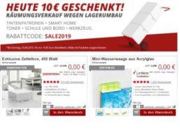 Druckerzubehoer: 10 Euro Rabatt ab 19,95 Euro Warenwert