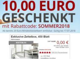Druckerzubehoer.de: 10 Euro Rabatt ab 20 Euro Warenwert