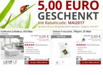 Druckerzubehoer.de: Fünf Euro Rabatt ab 20 Euro Warenwert