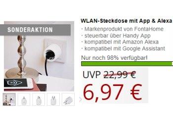 Druckerzubehoer.de: WLAN-Steckdose mit Alexa-Support für 6,97 Euro