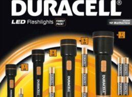 XXXL: Duracell-Taschenlampenset mit Batterien für 12,94 Euro frei Haus