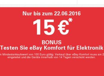 Ebay: 15 Euro Bonus beim Elektronik-Ankauf ab 100 Euro