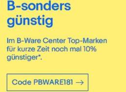 Ebay: 10 Prozent Rabatt auf bereits reduzierte B-Ware