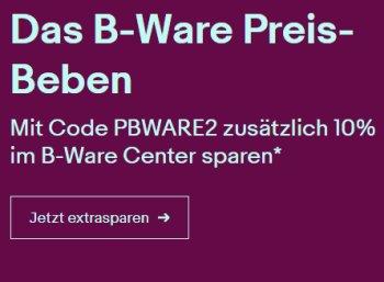 Ebay: 10 Prozent Rabatt auf bereits reudzierte B-Ware-Artikel