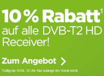 Ebay: Zehn Prozent Rabatt auf DVB-T2-Receiver