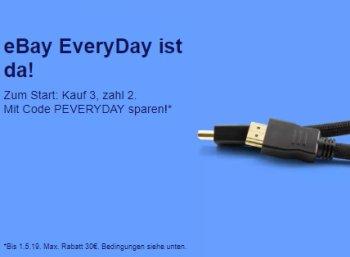 Ebay Everyday: Drei Artikel zum Preis von zweien kaufen
