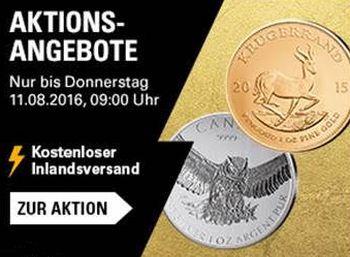 Ebay: Gold- und Silbermünzen zu Schnäppchenpreisen für eine Woche