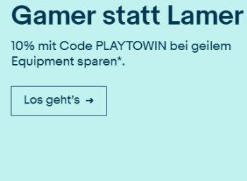 Ebay: Gaming-Artikel mit zehn Prozent Rabatt für zwei Wochen