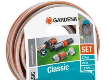 Ebay: Gardena-Schlauch mit Wandhalter und Zubehör für 18,59 Euro frei Haus
