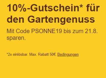 Ebay: 10 Prozent auf Gartenartikel und Grills für eine Woche