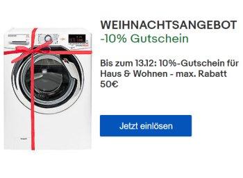 Ebay: Küchen- und Haushaltsartikel mit zehn Prozent Rabatt