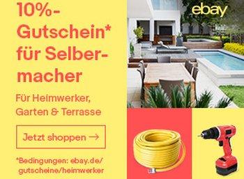 Ebay: Zehn Prozent Gutschein für Heimwerker