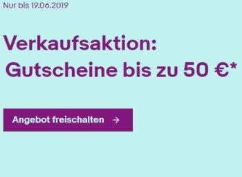 Ebay: Gutscheine im Wert von bis zu 50 Euro fürs Verkaufen