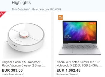 Ebay: 20 Prozent Rabatt auf Xiaomi-Produkte für zwei Wochen