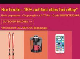 Ebay: 15 Prozent Rabatt auf fast alles für sechs Stunden