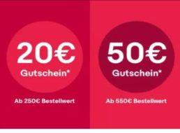 Ebay: Vier Tage lang bis zu 50 Euro Rabatt auf fast alles