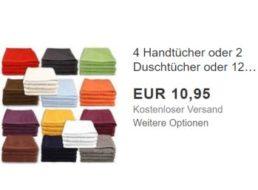 Ebay: Handtuch-Sets mit bis zu zwölf Teilen für 10,95 Euro frei Haus