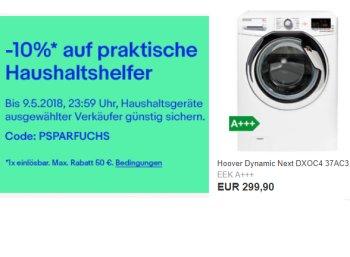 Ebay: 10 Prozent Rabatt auf Haushaltsgeräte, auch auf B-Ware