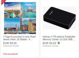 Noch verfügbar: Hotelgutschein für 39 bis 59 Euro bei Ebay
