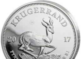 Ebay: Silbermünze Krügerrand 2017 für 29,50 Euro frei Haus
