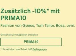 Ebay: Mode-Rabatt von zehn Prozent für kurze Zeit