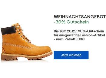 Ebay: 30 Prozent Mode-Rabatt auf Tausende Artikel für wenige Tage