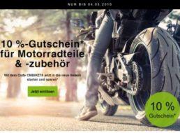 Ebay: 10 Prozent Biker-Rabatt ab sofort bis zum 4. Mai