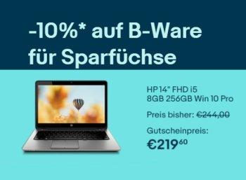 Ebay: B-Ware-Notebooks nochmals zehn Prozent billiger