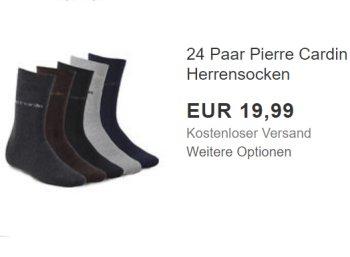 Pierre Cardin: 24 Paar Socken für 19,99 Euro frei Haus