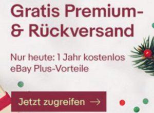 Ebay Plus: Jahresmitgliedschaft gratis am Nikolaustag