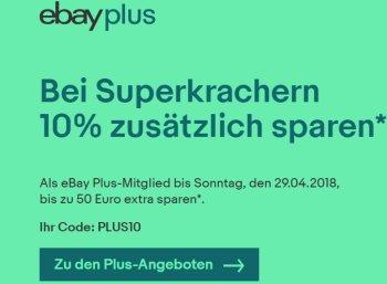 Ebay: 10 Prozent Rabatt auf alle Wow-Artikel bis Sonntag