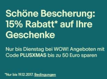 Ebay: 15 Prozent Geschenke-Rabatt für Plus-Kunden