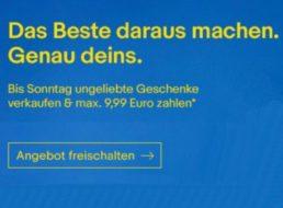 Ebay: Weihnachtsgeschenke für maximal 9,99 Euro Gebühr verkaufen