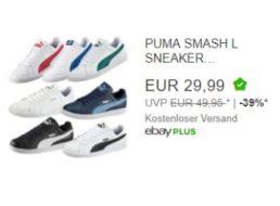 Ebay: Puma-Sneaker für 29,99 Euro frei Haus im Angebot