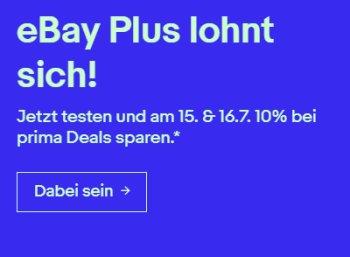 Ebay: Prime-Day-Konter mit 10 Prozent Rabatt bis Dienstag abend