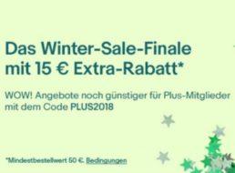 Ebay: 15 Euro Rabatt für Plus-Mitglieder ab 50 Euro Warenwert