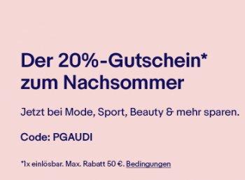 Ebay: 20 Prozent Mode-Rabatt bis zum 19. September 2018