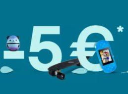 Ebay: Fünf Euro Rabatt ohne Mindestbestellwert