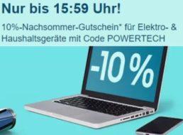 Ebay: 10 Prozent Rabatt auf Technik-Artikel für sechs Stunden