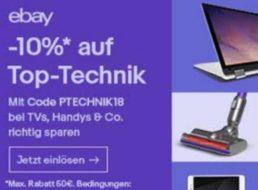 Ebay: Zehn Prozent Rabatt für Elektronik-Artikel bis 14. März