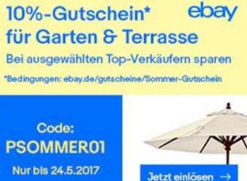 Ebay: Gartenartikel für eine Woche mit 10 Prozent Rabatt