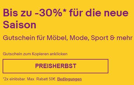 Ebay: 30 Prozent Rabatt auf Mode und Schuhe für eine Woche