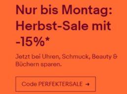 Ebay: Herbst-Sale mit 15 Prozent Rabatt auf Filme, CDs und mehr