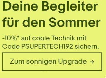 Ebay: Technik-Artikel nochmas 10 Prozent günstiger