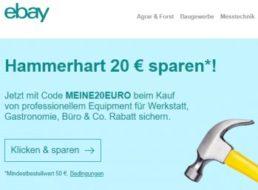 Ebay: 20 Euro Werkzeug- und Bürorabatt, nur auf Einladung