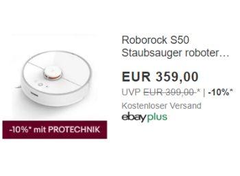 Ebay: Saugroboter mit Wischfunktion und Top-Bewertungen für 323,10 Euro