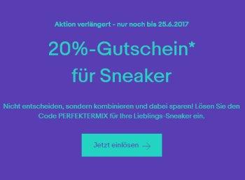Ebay: 20 Prozent Rabatt auf Sneaker bis kommenden Sonntag
