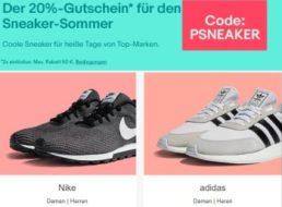 Ebay: Sneaker-Rabatt von 20 Prozent für zwei Wochen