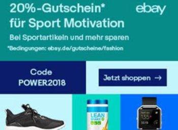 Ebay: 20 Prozent Rabatt auf Sportartikel für zwei Wochen
